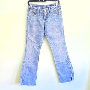 ARMANI EXCHANGE Blue boot cut distressed size 2